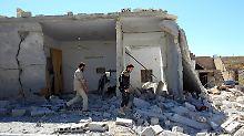 Zerstörtes Haus in Chan Scheichun.
