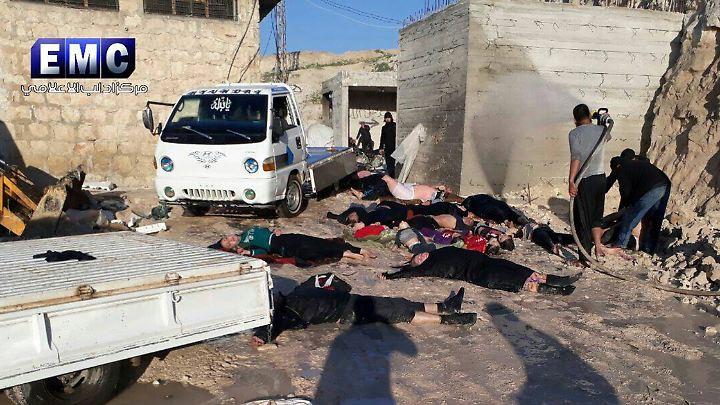 Nach dem Angriff in Chan Scheichun in der syrischen Provinz Idlib.