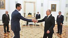 Merkel pocht auf Übergang: Johnson: Moskau muss Assad fallenlassen