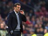 """""""Wir sind heute auf einen Gegner getroffen, der besser war"""", lautete die kurze, aber treffende Analyse von Schalke-Trainer Markus Weinzierl nach dem Spiel."""
