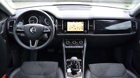 Die neue Bedieneinheit in der Mittelkonsole des Skoda Kodiaq hat noch nicht einmal der VW Tiguan.