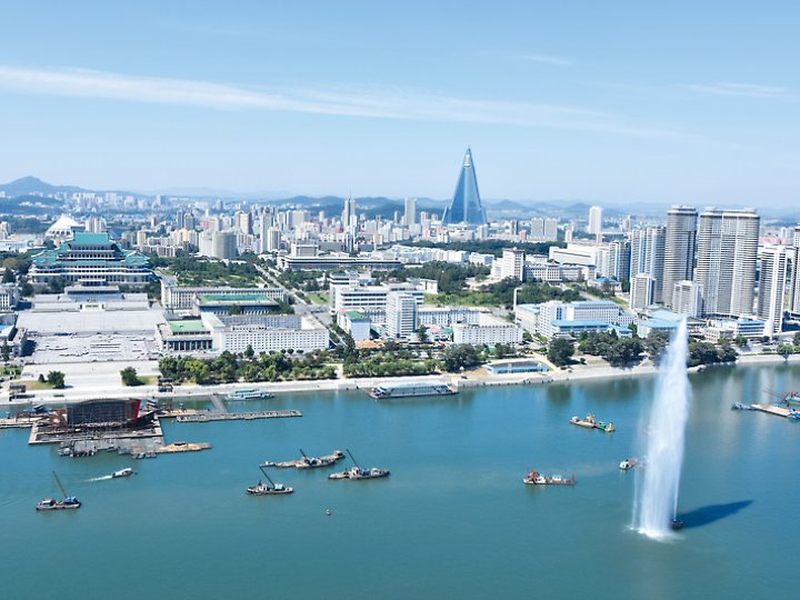 Auf einer Nordkorea-Reise spielen sich viele Programmpunkte in Pjöngjang ab - eigene Erkundungen dürfen Touristen dort aber nicht unternehmen.