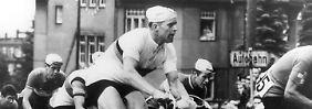 Schur bei einem rennen 1960 auf dem Sachsenring.