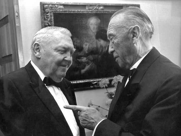 Mit dem ungeliebten Nachfolger Ludwig Erhard.
