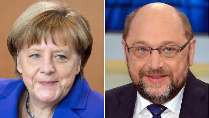 """Nach der Bundestagswahl müssen Angela Merkel und Martin Schulz sich womöglich zu einer weiteren """"GroKo"""" zusammenraufen."""