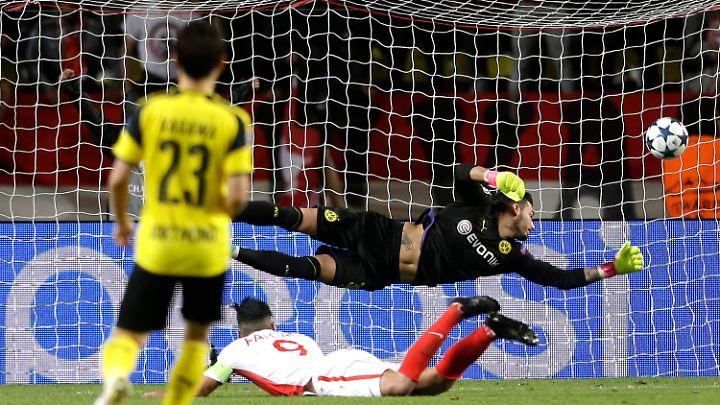 BVB-Keeper Roman Bürki war schon nach 17 Minuten zweimal geschlagen.