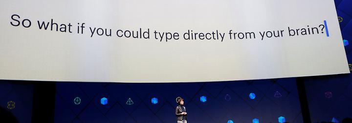 Umwandlung von Gedanken in Text: Facebook will Menschen mit dem Gehirn schreiben lassen
