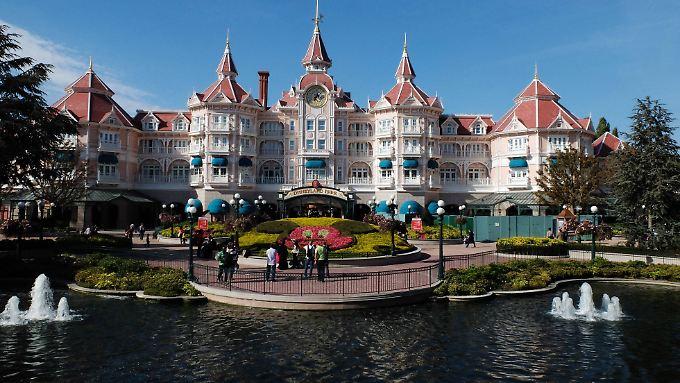 Hotel im Disneyland Paris in Frankreich.