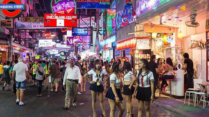 Fußgängerzone in Pattaya.