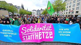 Gegen den AfD-Parteitag hatte sich ein breites und buntes Protestbündnis formiert.
