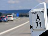 Ein Bayer in Thüringen: Polizei sucht Rettungsgassen-Falschfahrer