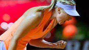 WTA-Turnier in Stuttgart: Scharapowa siegt bei Comeback nach Dopingsperre
