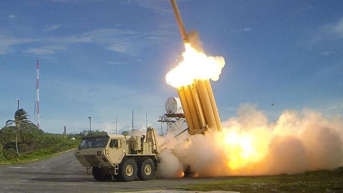 Diese Aufnahme des US-Verteidigungsministeriums zeigt einen Test mit dem Raketenabwehrsystem.