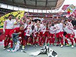 Jubel, Trubel, Heiterkeit: Leipzigs Fußballer feiern in Berlin.