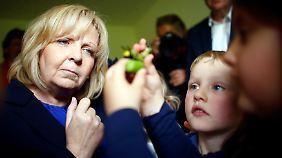 Hannelore Kraft in einer Kita in Hagen. Ihr mache der Wahlkampf Spaß, sagt sie.