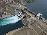 Bei Tabka befindet sich auch ein großer Staudamm.