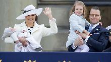 Royale Rock'n'Roll-Familie: Schwedens Prinzessin posiert mit Kiss
