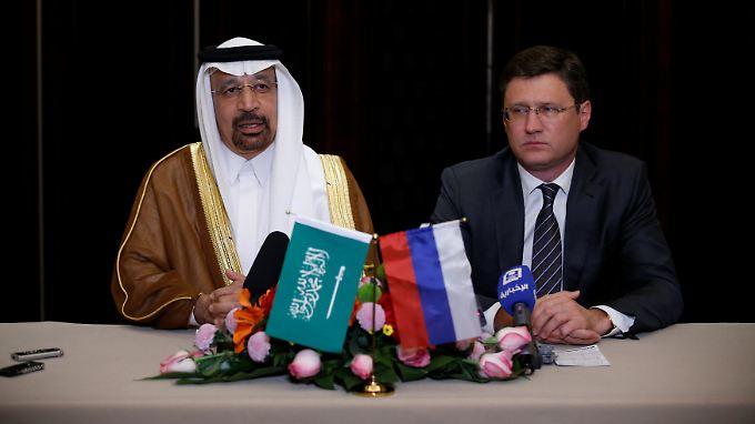 Gemeinsame Pressekonferenz in Peking: Saudi-Arabien und Russland einigen sich auf eine Verlängerung der Maßnahmen zur Anhebung des Ölpreises.