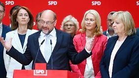 """Schulz zur Niederlage der NRW-SPD: """"Wegstrecke bis zur Bundestagswahl ist steinig"""""""