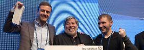 Besuch bei Start-ups in Berlin: Steve Wozniak, Popstar der Technik-Ära