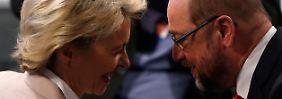 SPD-Chef zum Bundeswehr-Skandal: Schulz: Ministerin verstärkt Vertrauensverlust