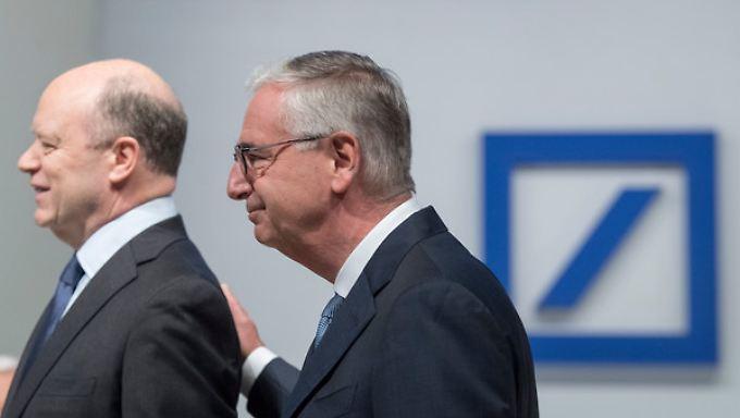 John Cryan (l.), Vorstandsvorsitzender der Deutschen Bank, und Aufsichtsratschef Paul Achleitner.