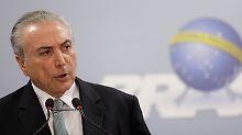 Brasilianisches Polit-Beben: Präsident Temer lehnt Rücktritt ab