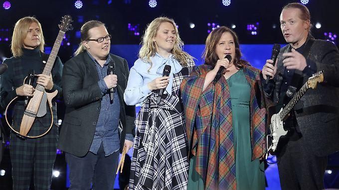 Bei der Party zum vergangenen Eurovision Song Contest gab die Kelly Family schon mal eine Live-Kostprobe.
