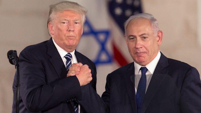 Treffen mit Abbas in Betlehem: Trump verspricht vollen Einsatz für Friedensabkommen