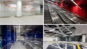 Die Wehrhahn-Linie in Düsseldorf ist nicht nur Transportmittel, sondern auch Kunst im öffentlichen Raum.