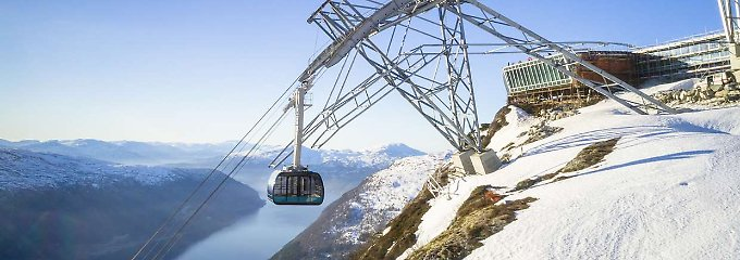 Blick auf Fjorde und Gletscher: Steilste Seilbahn in Norwegen eröffnet