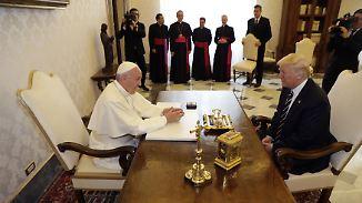 Zu Besuch bei Papst Franziskus: Trump trifft einen seiner schärfsten Kritiker