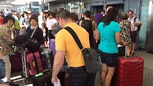 Auch am Londoner Flughafen Heathrow strandeten zahlreiche Passagiere.