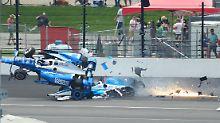 Rennunterbrechnung nach Crash: Spektakulärer Unfall überschattet Indy 500