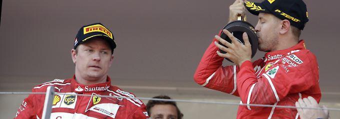 Kimi Räikkönen kann sich über den zweiten Platz in Monaco nicht wirklich freuen.