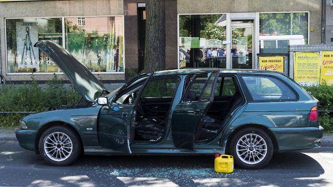 In diesem BMW wurden Drähte und ein Benzinkanister entdeckt.