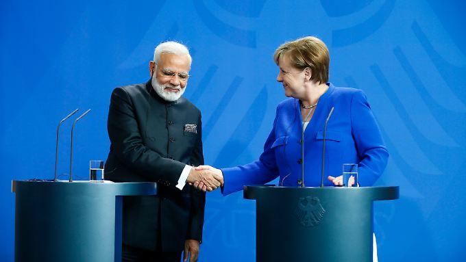 """""""Die Partnerschaft ist für beide Länder von Vorteil"""", glaubt Indiens Premier Modi."""