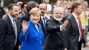 Deutsche Wirtschaft blickt nach Asien: Merkel knüpft engere Beziehungen mit China und Indien