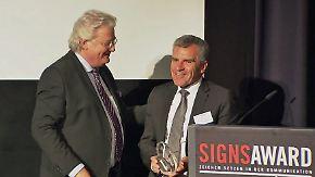 """Oscar der Kommunikationsbranche: n-tv Chef Demmel erhält Signs Award in Kategorie """"Glaubwürdigkeit"""""""