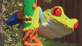Zeichen für den Artenschutz: Lego-Tiere bevölkern belgischen Zoo