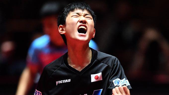 """""""Im Tischtennis hat das Alter nichts zu sagen"""": Tomokazu Harimoto."""