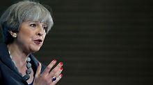 Erst seit Juli 2016 Premierministerin: Theresa May.