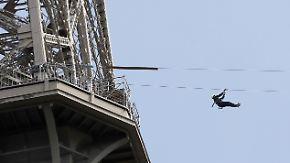 Mit 90 km/h aus 115 Meter Höhe: Seilrutsche vom Eiffelturm verspricht Nervenkitzel pur