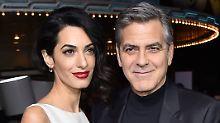 """Glückwunsche für die Clooneys: """"George steht unter Beruhigungsmitteln"""""""
