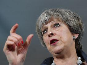 Theresa May setzt alles auf das Thema Sicherheit.