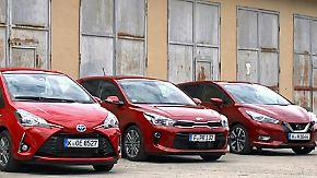 Rote Flitzer im Vergleich: Toyota, Nissan und Kia präsentieren neue Kleinwagen