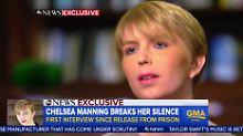 Erstes Fernsehinterview: Chelsea Manning dankt Obama unter Tränen
