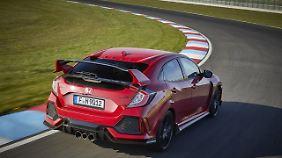 Viele Spoiler, mehr PSund ein neues Getriebe:Der Civic Type R ist die sportliche Version von Hondas Civic.