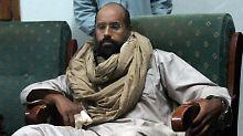 Dieses Archivfoto zeigt al-Islam nach seiner Festnahme im November 2011.