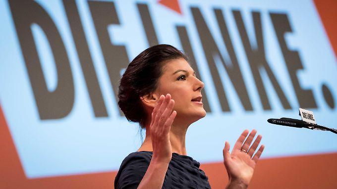 Sahra Wagenknecht, Spitzenkandidatin der Linken.